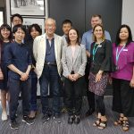 group of IPC Health staff and visitors from Japanese university