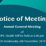 Notice of meeting Annual General Meeting 2019 sign