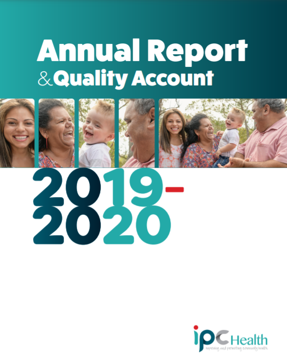 Annual Report 2019 2020 front page