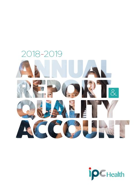 Front page image IPC Health 2018 2019 Annual Report & Quality Account