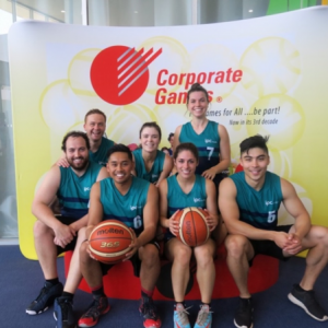 IPC Health Corporate Games mix basketball team